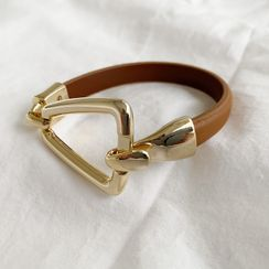 NANING9 - Buckle-Accent Cowhide Bracelet