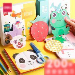 Pecorino - Set: Kids Scissors + DIY Paper Cut Craft