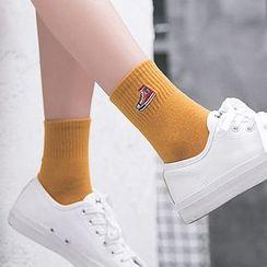 Shippo - 运动鞋刺绣袜子