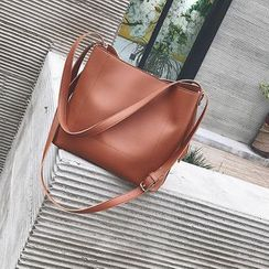 Behere - Faux Leather Bucket Bag