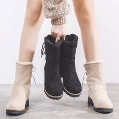Kireina - Lace-Up Short Snow Boots
