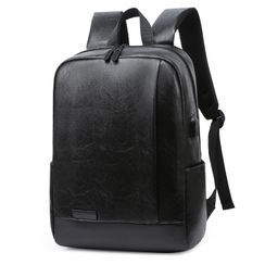 Endemica(エンデミカ) - Plain Faux Leather Zip Backpack