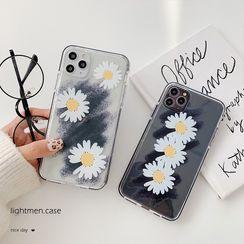 Handy Pie - Daisy Print Phone Case - iPhone 11 Pro Max / 11 Pro / 11 / XS Max / XS / XR / X / 8 / 8 Plus / 7 / 7 Plus / 6s / 6s Plus