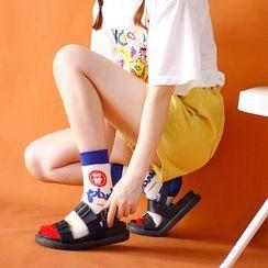 Cottonet - Color Block Cartoon Socks