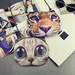 Aishang - 猫咪锁链单肩包