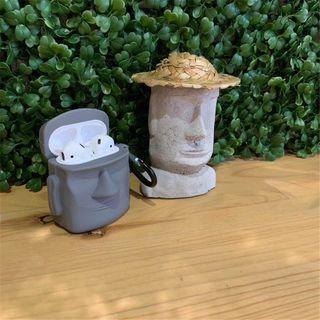 Jaguara - Housse de protection en silicone AirPods à thème de pierre