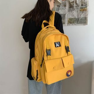 EAVALURE - Multi-Section Applique Nylon Backpack