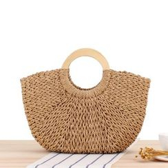 STYLE CICI - Woven Basket Tote Bag