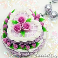 Sweet & Co. - Purple Double Layer Rose Cake Pearl Necklace