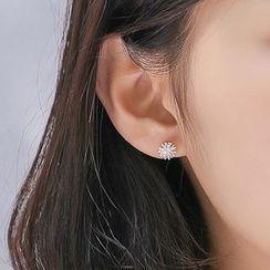 JUSUMMER - 925 Sterling Silver Dandelion Stud Earring
