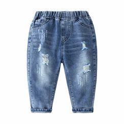 貝殼童裝 - 小童破洞牛仔褲