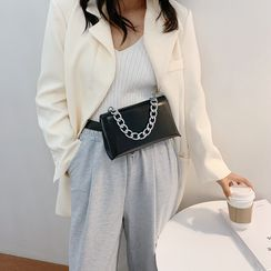 NewTown - Chain Faux Leather Crossbody Bag