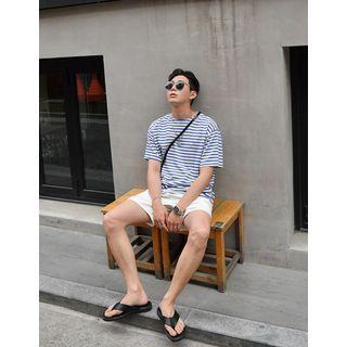 GERIO - Round-Neck Striped T-Shirt