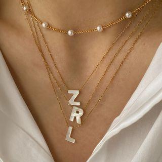Beanteenie(ビーンティーニー) - Lettering Necklace