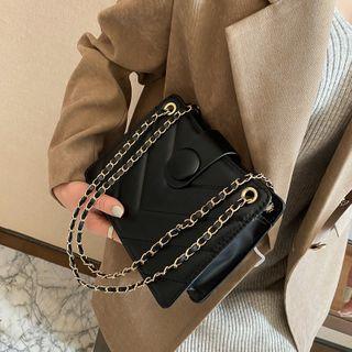 mizandrus - Chain Faux Leather Crossbody Bag