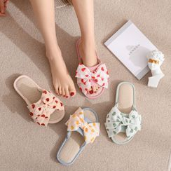 Furana - Dotted Bow Slippers