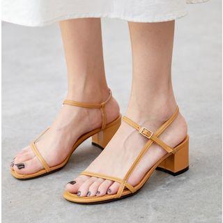 Freesia - 多带粗跟踝带凉鞋