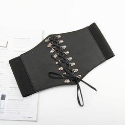 Rofuka - Lace Up Elastic Corset Belt