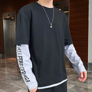 Downtown - Mock Two-Piece Long-Sleeve T-Shirt