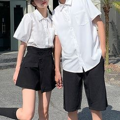 Azure(アズール) - Couple Matching Short-Sleeve Shirt / Shorts / Mini A-Line Skort
