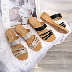 BySEA - Wedge Heel Slide Sandals