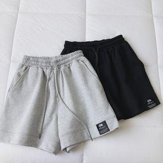 mochigome - 抽繩腰寬腿短褲