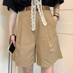 CRIBI - 情侣款宽腿短裤 / 皮带