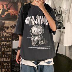 SuperLittle - Rabbit Printed Short-Sleeve T-Shirt