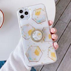 Aion - Gold Leaf Geometric Print Ring Stand Phone Case - iPhone 11 Pro Max / 11 Pro / 11 / XS Max / XS / XR / X / 8 / 8 Plus / 7 / 7 Plus / 6s / 6s Plus