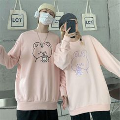 EROPIA(エロピア) - Couple Matching Printed Sweatshirt