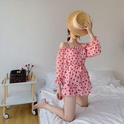 Iolana - Set: Dotted Bikini + Swim Dress