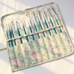 Ponyi - Floral Print Rolling Pencil Case