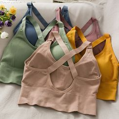 Lemongrass(レモングラス) - Strappy Push-Up Sports Bra Top in 6 Colors