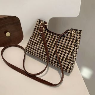 mizandrus - Houndstooth Crossbody Bag