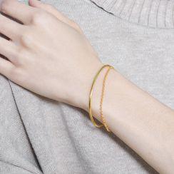 Wellhem - 925 Sterling Silver Layered Bracelet