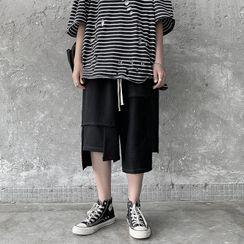Antaeus - Irregular Hem Drawstring Shorts