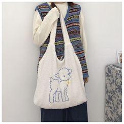 TangTangBags - 绒毛绵羊刺绣购物袋