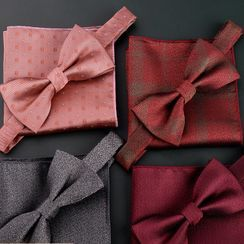Prodigy - 套装: 蝴蝶结领带 + 口袋巾