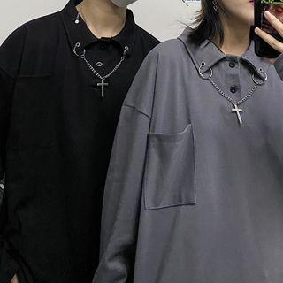 LINSI - 长袖链条马球衫
