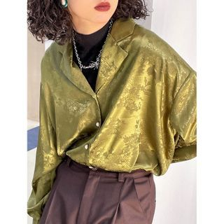 DUKA - Notch Lapel Satin Shirt