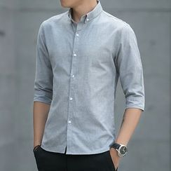 JORZ - Plain Elbow-Sleeve Shirt