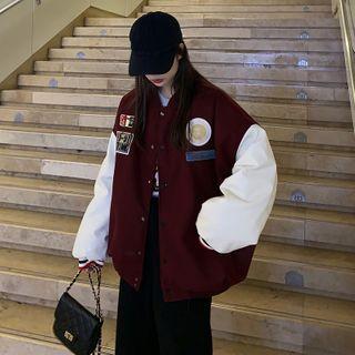Whoosh(ウーシュ) - Patched Baseball Jacket