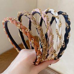 Oohlala! - Braided Chain Fabric Headband