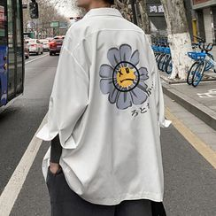 YERGO - 七分袖花朵印花衬衫