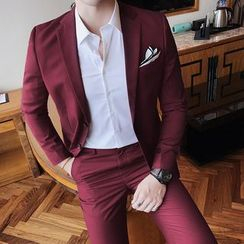 Besto - Set: Plain Blazer + Dress Pants