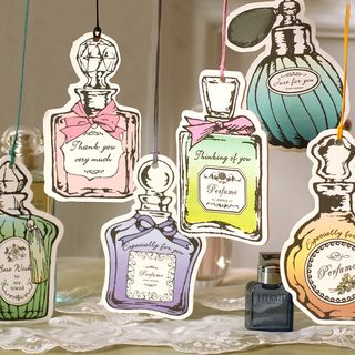 DAILYCRAFT - Fragrance Bottle Greeting Card with Ribbon