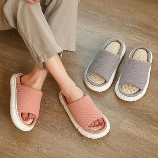 Ishanti - Couple Matching Linen Slippers