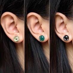 A'ROCH - 925 Sterling Silver Bead Stud Earring