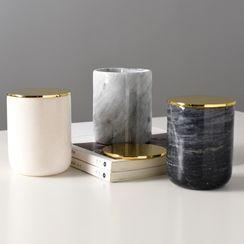 miss house - Marble Print Ceramic Pen Holder