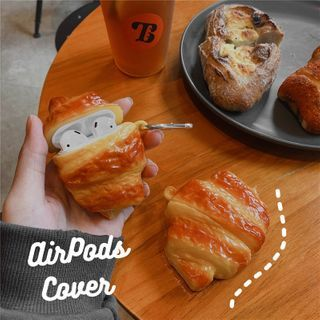 Edgin - Silicon Croissant Print AirPods Case Protection Cover